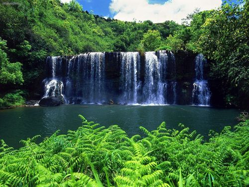 Kauai Waterfalls - kauai-the-garden-island Wallpaper