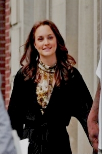 LM on the set of Gossip Girl