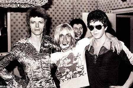 Lou Reed, Iggy Pop and David Bowie