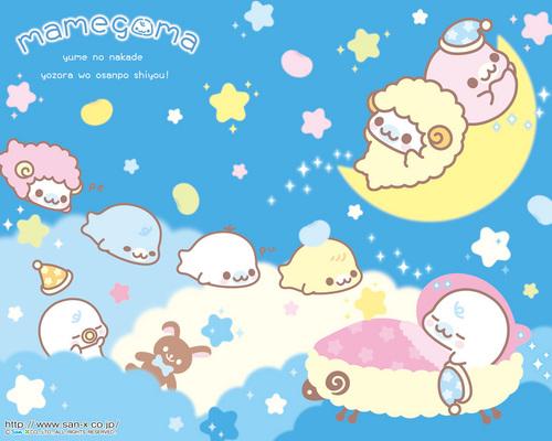 Mamegoma Baby Bedtime fond d'écran
