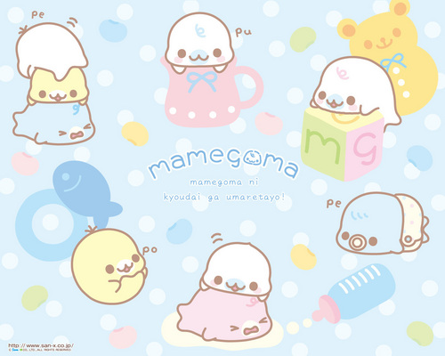 Mamegoma Baby Teacup Wallpaper