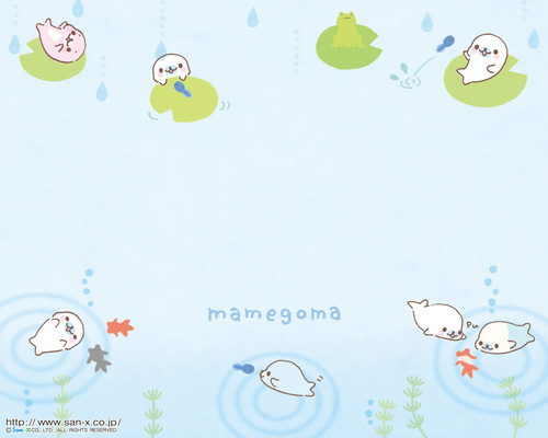 Mamegoma Lilly Pad Wallpaper