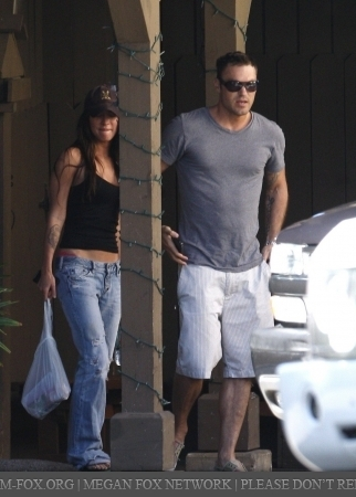 Megan & Brian out in Beverly Hills