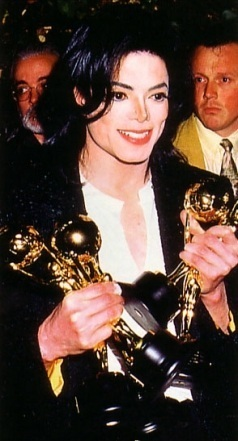 Mj acting cool about his prizes :)