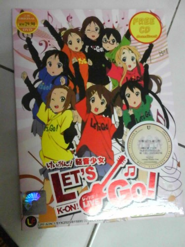 My K-On! Let's Go! Live Consert DVD