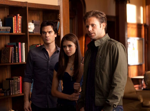 New stills from Bad Moon Rising: Damon & Elena