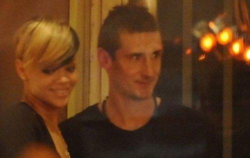 Rhianna meets Miroslav Klose in Berlin