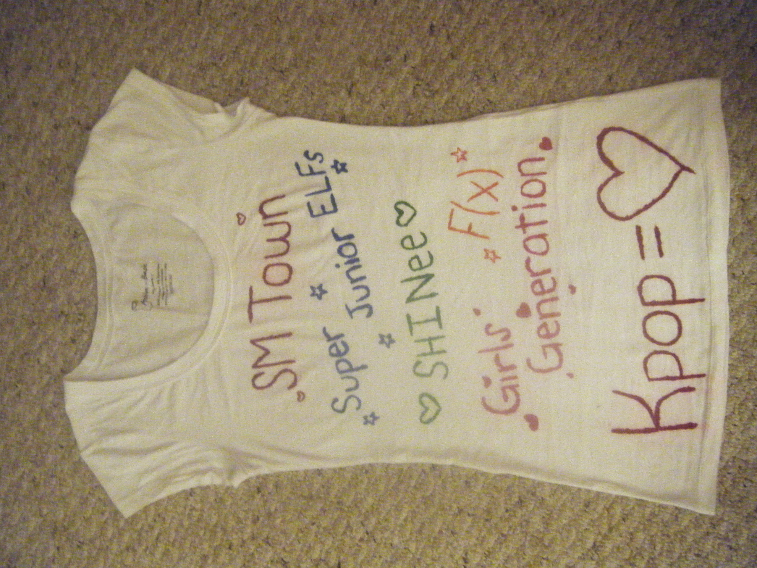SM Town Live 2010 Concert in LA T-Shirt I made! ^_^ ASK BEFORE USING!