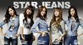 SNSD for SPAO bintang jeans