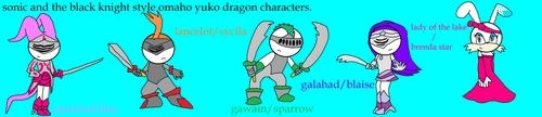 STBK styled omaho yuko dragon characters