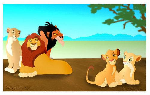 Sarabi,Mufasa,Scar,Nala&Simba