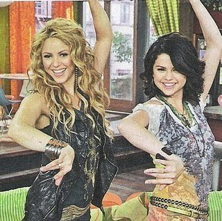 Shakira wallpaper probably containing a tamale called Shakira and Selena Gomez