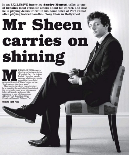 Sheen on Sunday Express