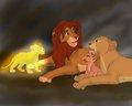 Simba,Nala,Kiara & Kopa