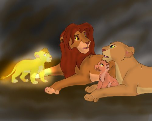 The Lion King پیپر وال titled Simba,Nala,Kiara & Kopa