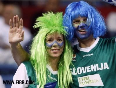 Slovenia fans