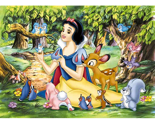 Snow White and the Seven Dwarfs wallpaper possibly with anime called Snow White and the Seven Dwarfs