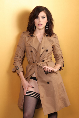 One Tree Hill wallpaper containing a trench coat titled Sophia Bush - Charles Bush Photoshoot (New Photos)