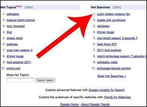 Weirdest Bieber-Related Google Trends
