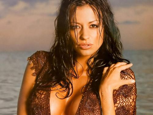 Candice Michelle پیپر وال possibly with a bikini, a portrait, and skin titled candice michelle
