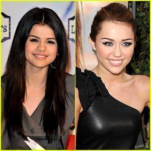 Miley Cyrus vs. Selena Gomez 壁纸 containing a portrait called i 爱情