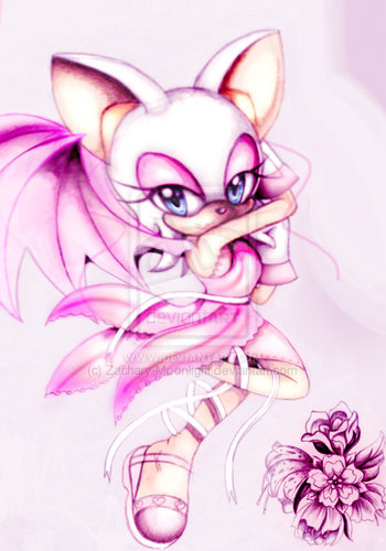 ROUGE THE BAT Hintergrund containing a rose and a bouquet entitled pretty in rosa - R O U G E