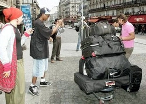 rafa and his luggage ...