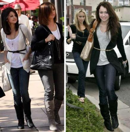Miley Cyrus vs. Selena Gomez karatasi la kupamba ukuta with a business suit entitled sello
