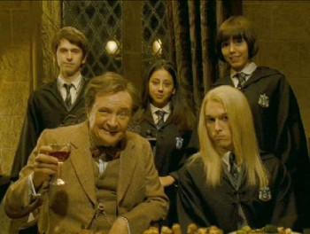 young Lucius Malfoy in Slug Club