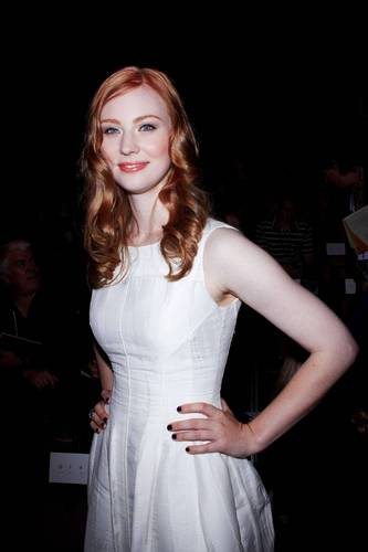 Deborah Ann Woll 壁紙 possibly containing a カクテル dress entitled Mercedes-Benz Fashion Week Spring 2011 - September 11