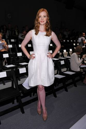 Deborah Ann Woll wallpaper entitled  Mercedes-Benz Fashion Week Spring 2011 - September 11