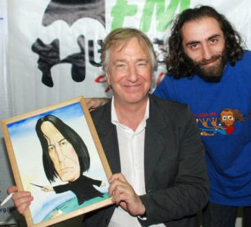 Alan Rickman with a Snape picture