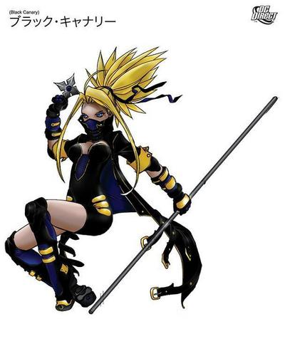 anime Black Canary Redesign