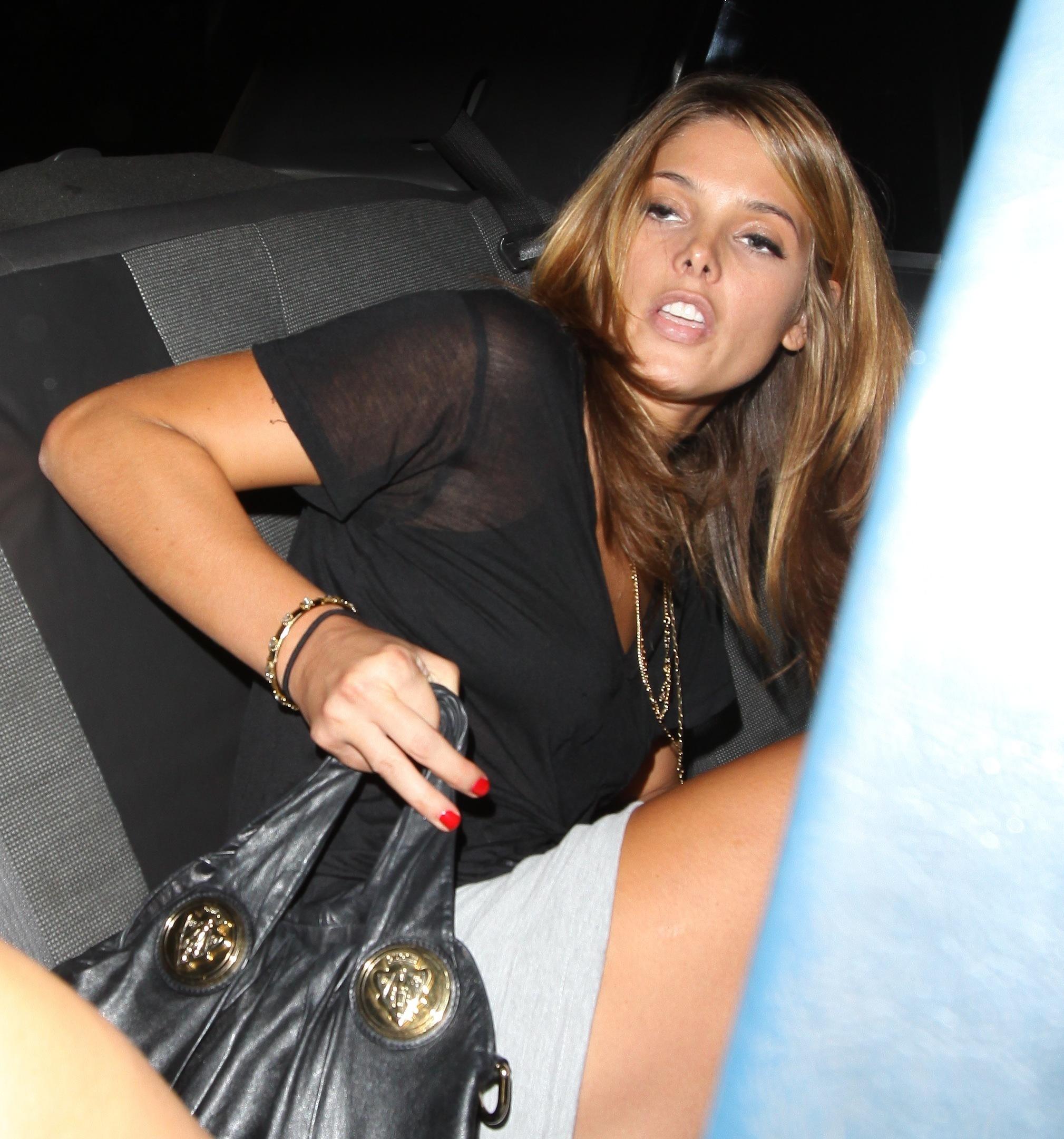 Ashley leaving Premiere Nightclub 09-09-10