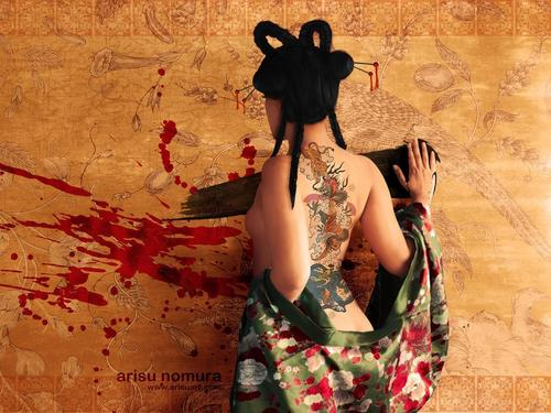 Tattoos wallpaper possibly containing a kimono titled Asian Tattoo