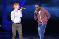 B.o.B rehearses at the Nokia Theater for the 2010 MTV VMAs.
