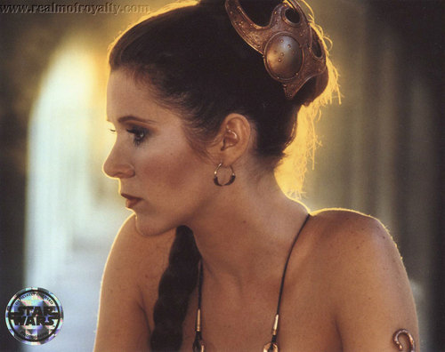 Carrie Fisher wallpaper titled Beautiful Leia in her slave bikini