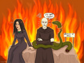 Bellatrix Voldemort and Nagini comic