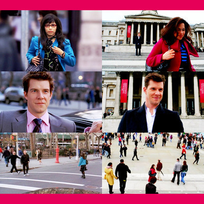 Ugly Betty wallpaper possibly containing a street titled Betty & Daniel