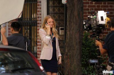 "Blake on ""Gossip Girl"" set"