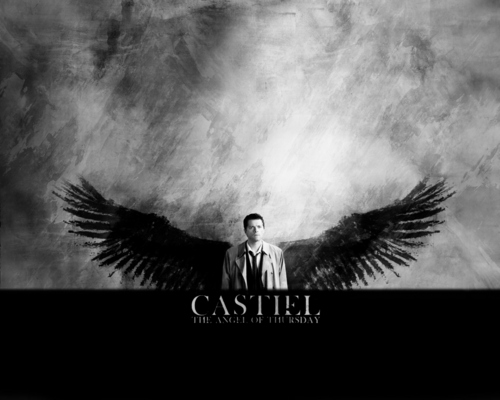 Castiel wallpaper with a fire called Castiel