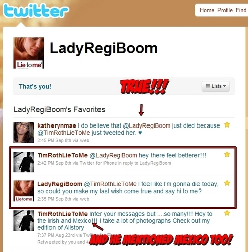 Cause I can't stop bragging about it... Tim Roth's tweet to me XD