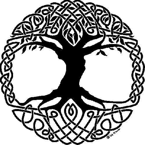 Paganism wallpaper probably with a triskelion titled Celtic Symbol: Tree Of Life