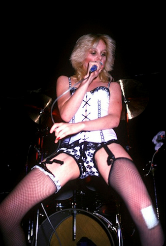 the runaways wallpaper probably with a drummer titled Cherie Performing @ CBGB - 1976