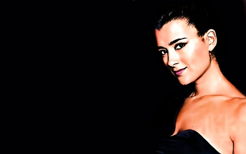 Коте де Пабло Обои probably with attractiveness, a bustier, and a portrait entitled Cote De Pablo widescreen