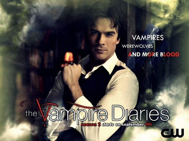 vampire diaries wallpaper damon and. Damon - The Vampire Diaries TV