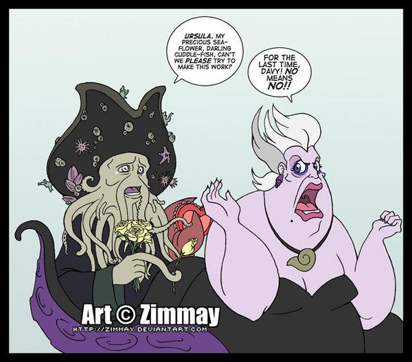 Davy Jones has a crush on Ursula