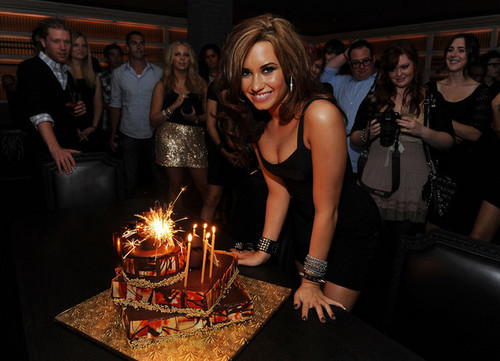 Demi Lovato Celebrates Her 18th Birthday