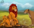 Dirty boys (Mufasa,Simba,Sarabi) - the-lion-king fan art