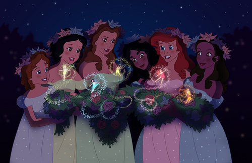 Disney Princesses with the fairies